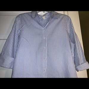 A Nice Button Down/ Collard Stripped Shirt